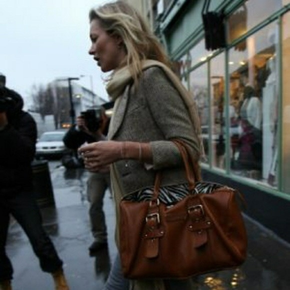 Longchamp Kate Moss Gloucester Leather Handbag